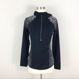 Athleta XS Athletic Running Hooded Jacket Top Blue